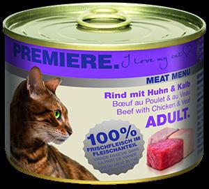PREMIERE Meat Menü konzerv adult marha&borjú 200g