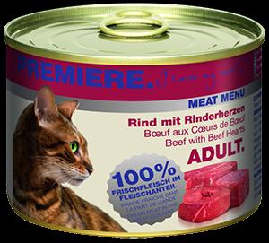 PREMIERE Meat Menü konzerv adult marha&szív 200g