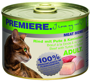 PREMIERE Meat Menü konzerv adult marha&nyúl 200g