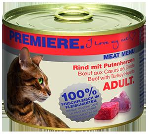 PREMIERE Meat Menü konzerv adult marha&pulyka 200g