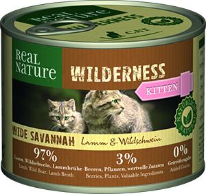 Real Nature Wilderness konzerv kitten wide savanna 200g