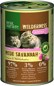 Real Nature Wilderness konzerv kitten wide savanna 400g