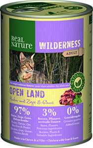 Real Nature Wilderness konzerv adult open land 400g