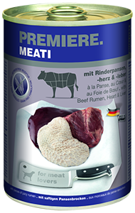 PREMIERE Meati konzerv adult pacal&szív 400g