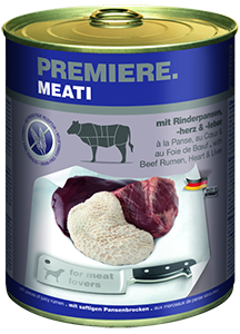 PREMIERE Meati konzerv adult pacal&szív 800g