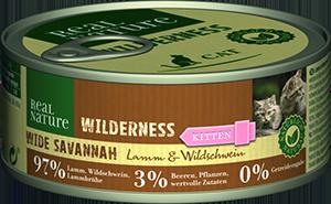 Real Nature Wilderness konzerv kitten wide savanna 100g
