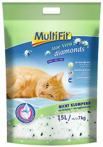 MULTIFIT DIAMONDS ALOE VERA SILICAT macska alom 15 l