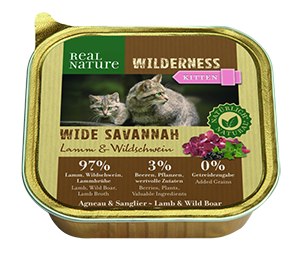 Real Nature Wilderness tálka kitten wide savanna 100g