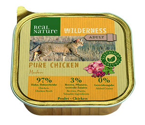 Real Nature Wilderness tálka adult pure csirke 100g