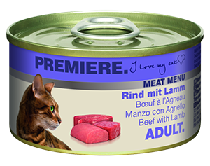 PREMIERE Meat Menü konzerv adult marha&bárány 100g