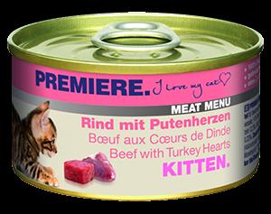 PREMIERE Meat Menü konzerv kitten marha&pulyka 100g