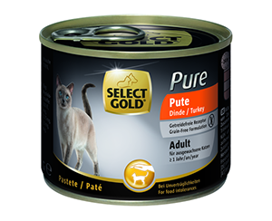 Select Gold Pure konzerv adult pulyka 200g