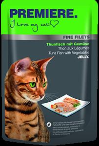 PREMIERE Fine Filets tasak adult tonhal&zöldség 100g