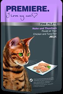 PREMIERE Fine Filets tasak adult csirke&tonhal 100g