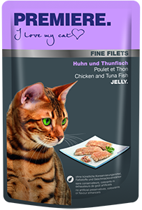 PREMIERE Fine Filets tasak adult csirke&tonhal 100g