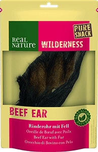 Real Nature Wilderness pure snack marhafül szőrrel 1db