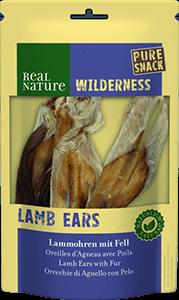 Real Nature Wilderness pure snack bárányfül szőrrel 3db