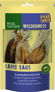 Real Nature Wilderness pure snack bárányfül szőrrel 3db