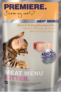 PREMIERE Meat Menü tasak kitten marha&szárnyas 85g
