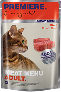 PREMIERE Meat Menü tasak adult marha 85g