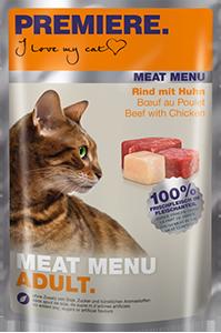 PREMIERE Meat Menü tasak adult marha&csirke 85g
