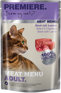 PREMIERE Meat Menü tasak adult marha&bárány 85g