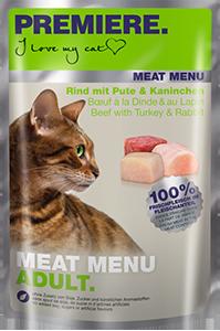 PREMIERE Meat Menü tasak adult pulyka&nyúl 85g