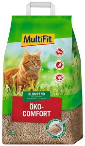 MULTIFIT Öko Comfort csomósodó macska alom 40 l