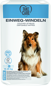 TAKE CARE kutyapelenka eldobható L 14db