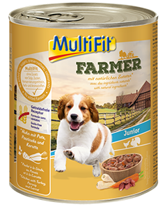 MultiFit Farmer konzerv junior csirke&pulyka 800g