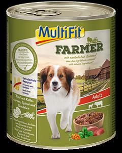 MultiFit Farmer konzerv adult marha&borjú 800g
