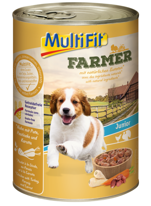 MultiFit Farmer konzerv junior csirke&pulyka 400g