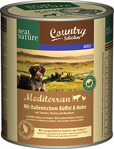 Real Nature Country konzerv adult bivaly&csirke 800g