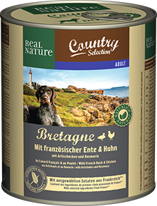 Real Nature Country konzerv adult kacsa&csirke 800g