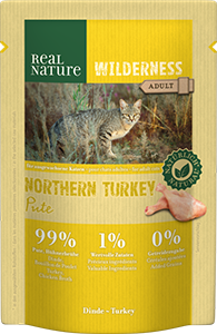 Real Nature Wilderness tasak adult nort. pulyka 85g