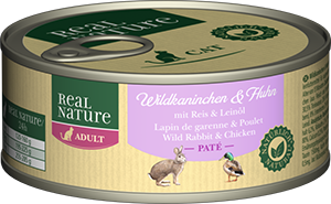 Real Nature Classic konzerv adult vadnyúl&csirke 100g