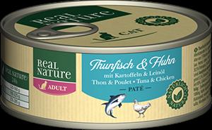 Real Nature Classic konzerv adult tonhal&csirke 100g