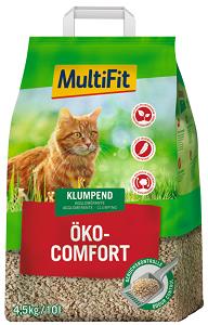 MULTIFIT Öko Comfort csomósodó macska alom 10 l