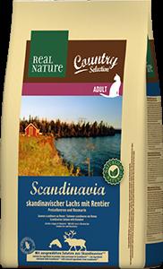 Real Nature Country Scandinavia adult lazac&rénszarvas 2,5kg