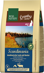 Real Nature Country Scandinavia adult lazac&rénszarvas 2,5kg