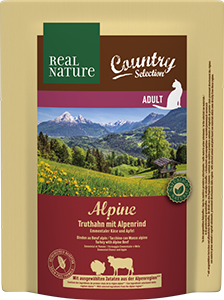Real Nature Country Alpine adult pulyka&marha 300g