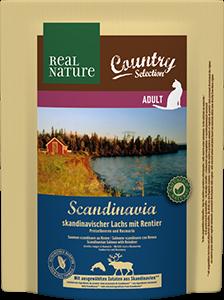 Real Nature Country Scandinavia adult lazac&rénszarvas 300g