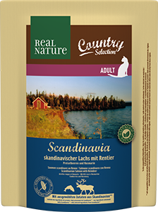 Real Nature Country Scandinavia adult lazac&rénszarvas 300g