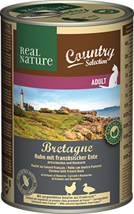 Real Nature Country konzerv adult gyöngytyúk&kacsa 400g