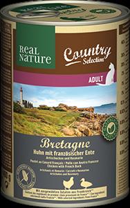 Real Nature Country konzerv adult gyöngytyúk&kacsa 400g