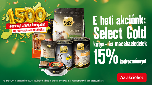 Select Gold: a minőségi választás most akciós áron!