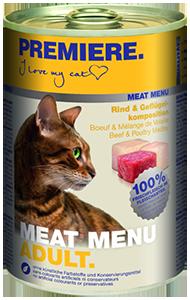 PREMIERE Meat Menü konzerv adult szárnyas 400g