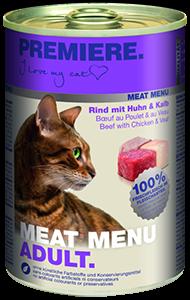 PREMIERE Meat Menü konzerv adult marha&borjú 400g