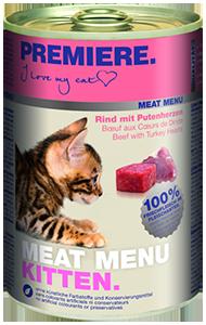 PREMIERE Meat Menü konzerv kitten marha&pulyka 400g