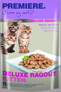 PREMIERE Deluxe Ragout tasak kitten borjú 85g